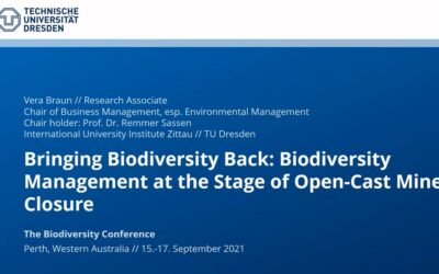 Bringing biodiversity back: Biodiversity management at the stage of open-cast mine closure